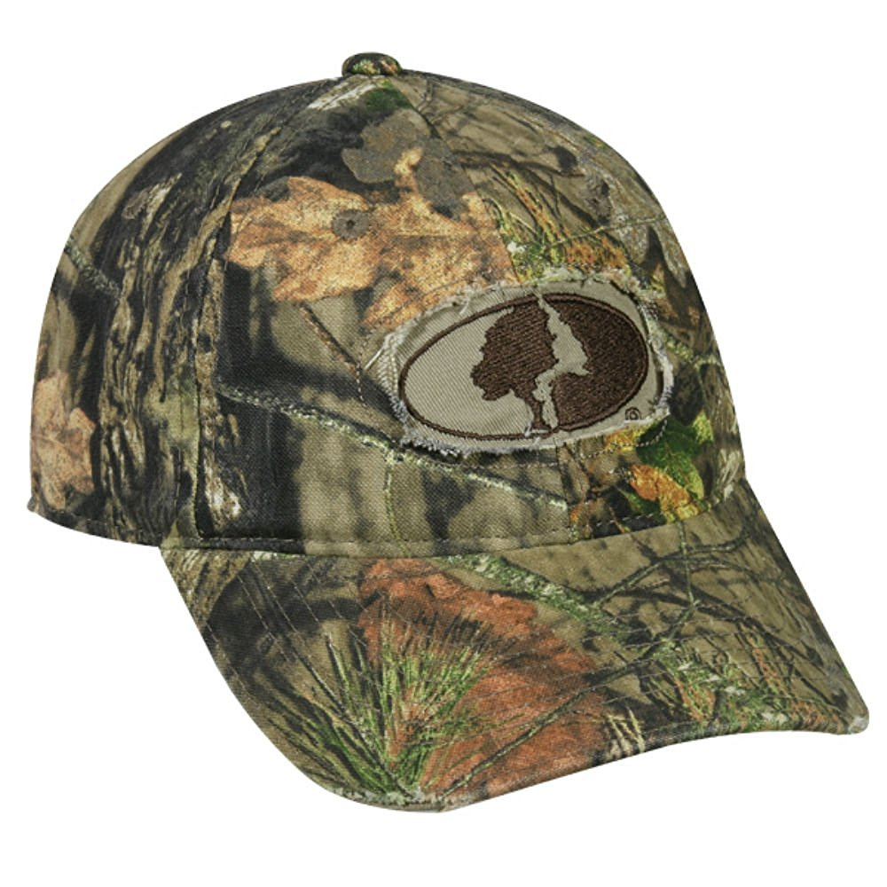 Mossy Oak Country Camo Frayed Patch Logo Hunting Hat by Outdoor Cap