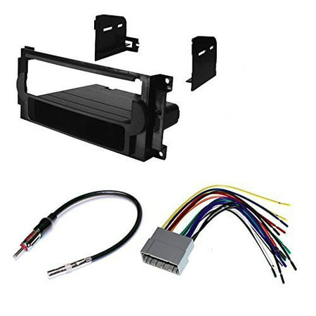 jeep 2005 - 2007 grand cherokee car stereo dash install mounting kit wire harness radio antenna package (Jeep Cherokee Stereo System)
