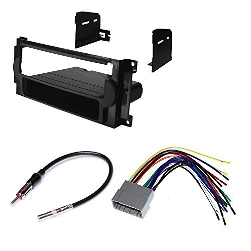 dodge 2004 - 2007 durango car stereo dash install mounting kit wire harness radio antenna package