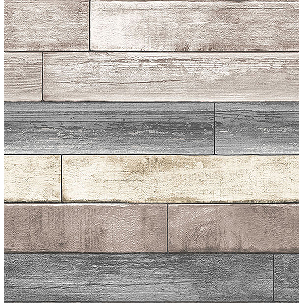NuWallpaper Reclaimed Wood Plank Natural Peel & Stick Wallpaper
