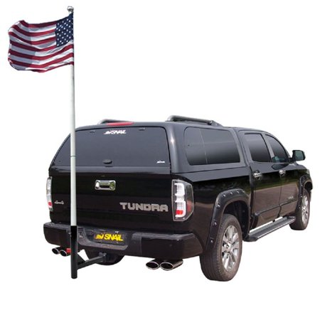 New Hitch Mount Flagpole Holder Trailer Receivers RV Flag Pole Hold Car Camper ()