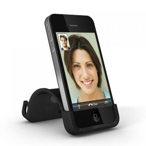Memorex 02444 Snap Stand iPhone 4S Black