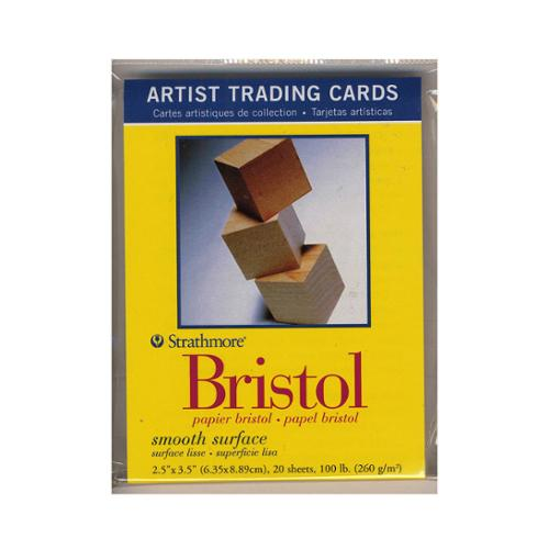 Strathmore Artist Trading Cards (Pack of 6) 300 Series Bristol Smooth pack of 20 [Pack of 6]