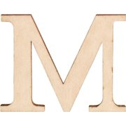 Walnut Hollow Wood Letters and Numbers, 1.5-Inch, M, 2 Per Package Multi-Colored