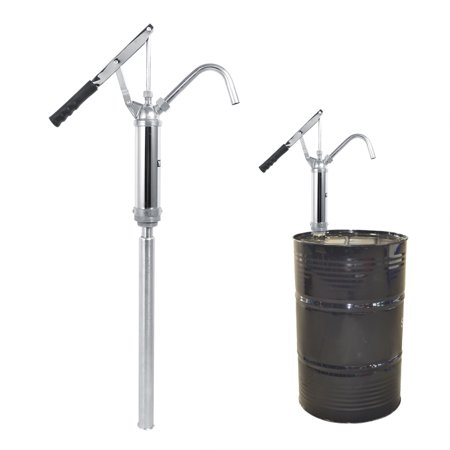 (Manual Hand Rotary Oil Fuel Transfer 55 Gallon Drum Pump Barrel Tank Suction Lever Action)