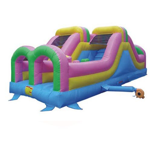 Kidwise Commercial Double Challenger Inflatable Slide