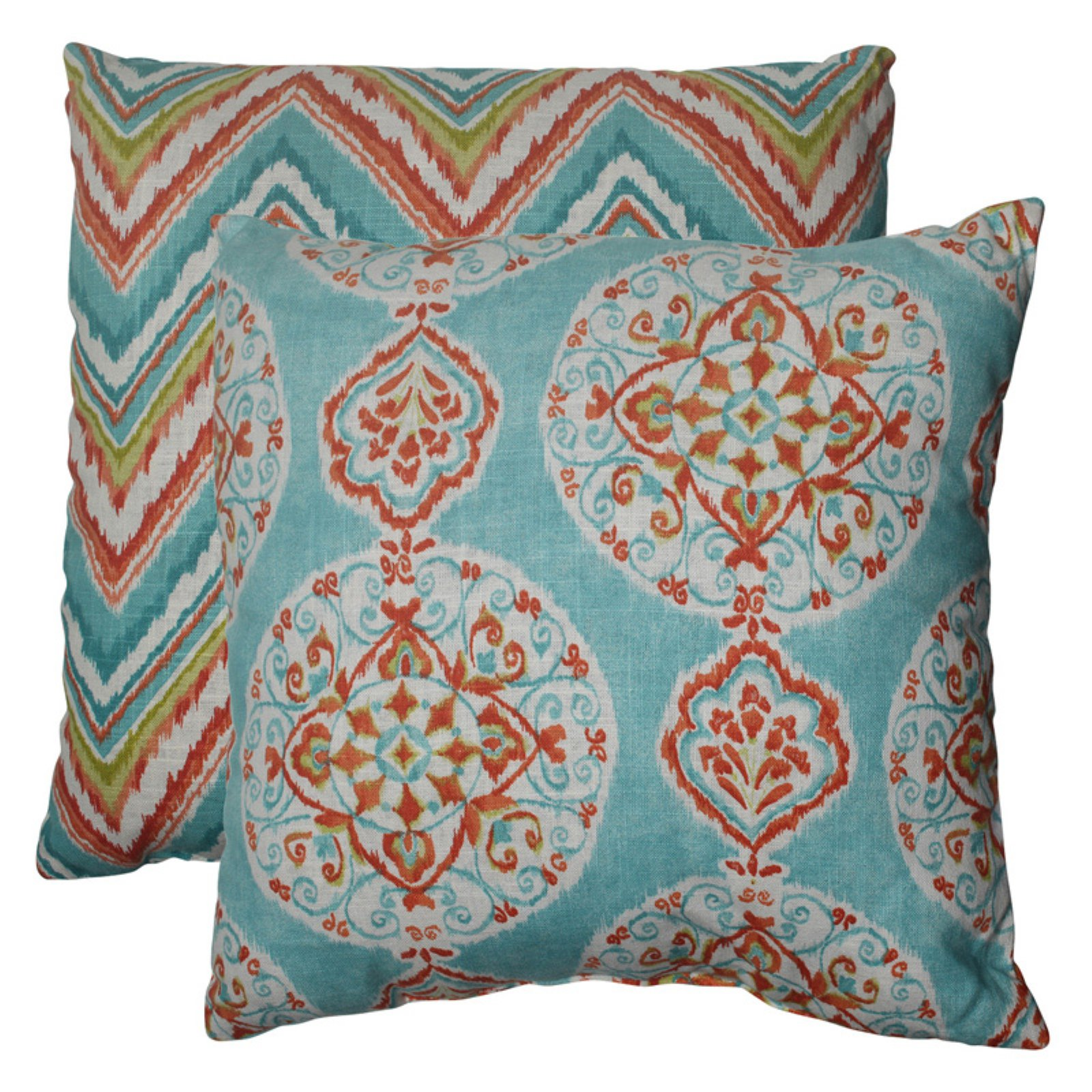 Pillow Perfect Mirage & Chevron Throw Pillows - Set of 2