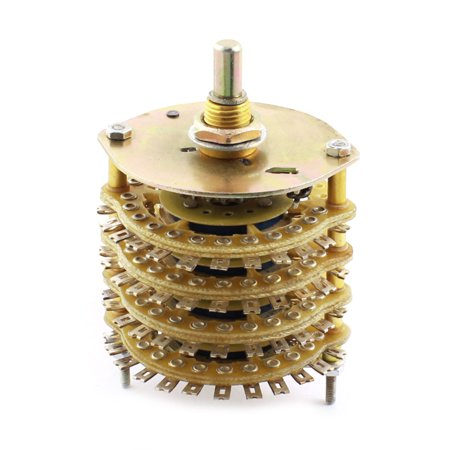DIY Volume Control 4P16T 4 Pole 16 Throw 4 Wafers Selector Rotary Switch (Pyle Rotary Volume Control)