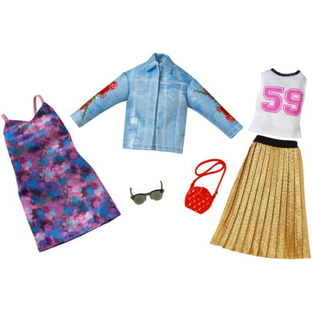 Barbie Fashion Trucker Jacket/Pleated Skirt Fashion 2 (Barbie Fashion Clothing)