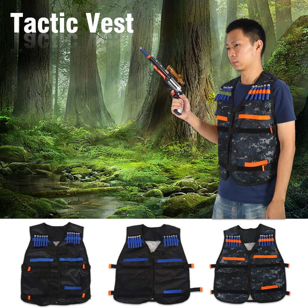 HURRISE Adjustable Tactic Armor Vest Jacket Waistcoat Ammo Holder Bullets Darts with 20 x bullet darts