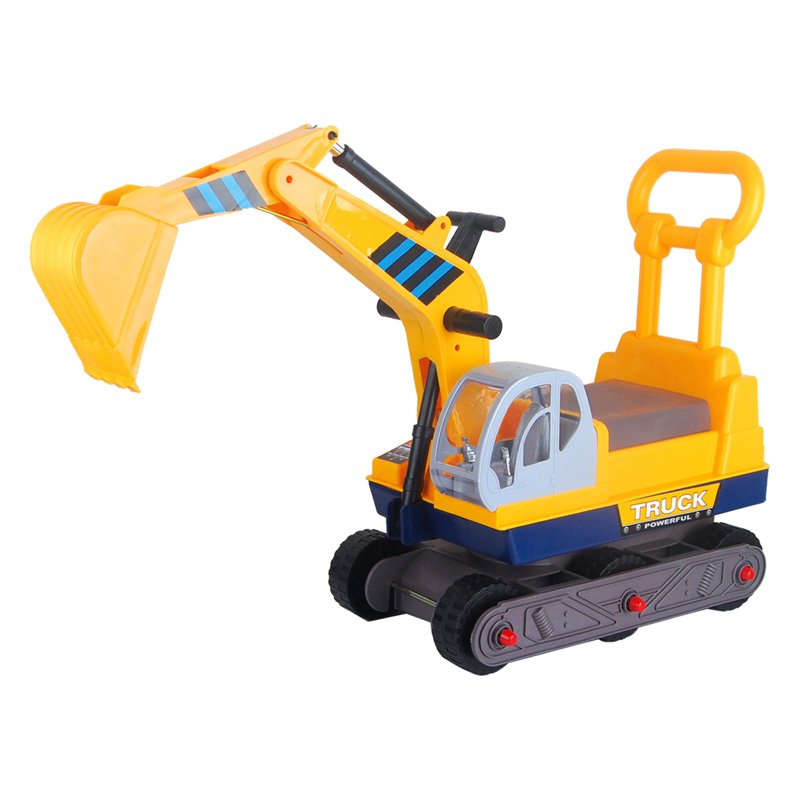 Vroom Rider Ride-on 6-Wheel Excavator Riding Push Toy with Back