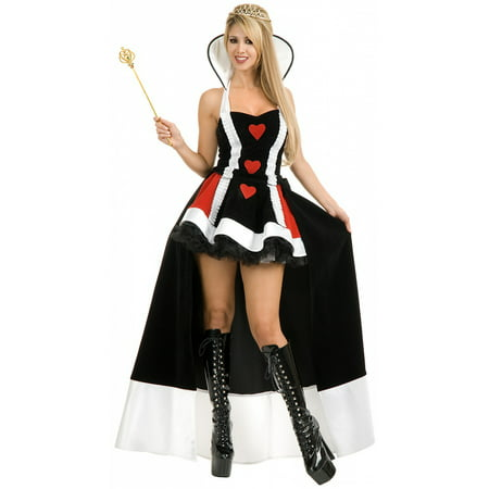 Enchanting Queen Of Hearts Costume (Enchanted Queen of Hearts Adult Costume -)