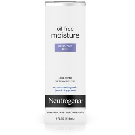 Neutrogena Oil-Free Moisture Facial Moisturizer, Sensitive Skin 4 oz