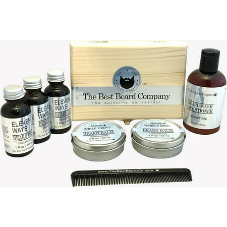 The Best Beard Company The Deluxe Cedarwood Conditioner Grooming Kit, 8