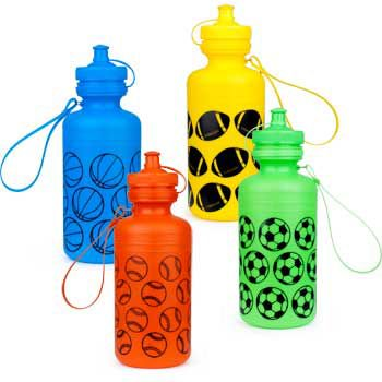 Sports Water Bottles (each) - Party Supplies