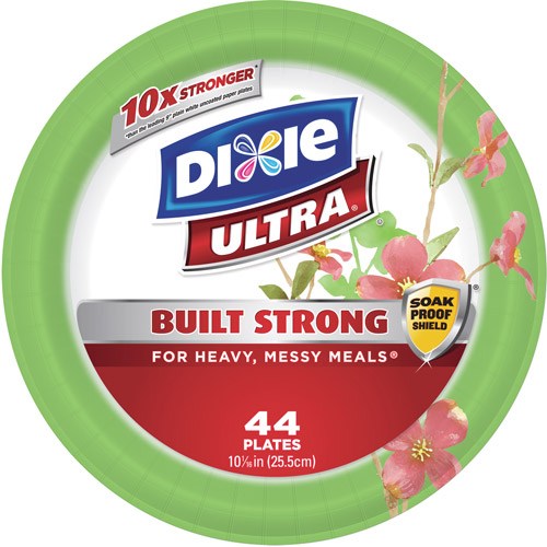 """Dixie Ultra Paper Plate, 10.0625"""", 44 count"""