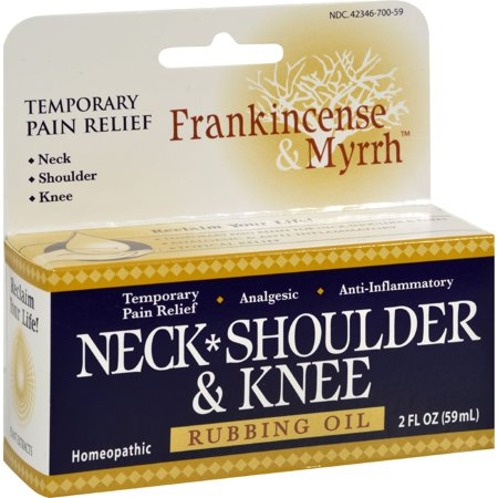 Frankincense and Myrrh Neck, Shoulder, and Knee Oil - 2 fl