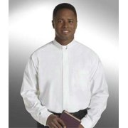 Clerical Shirt-Long Sleeve Tab Collar-17X32/33-White
