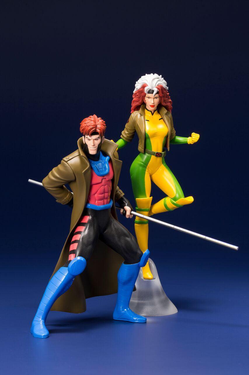 Kotobukiya Marvel Universe X-Men '92 Gambit and Rogue 2 Pack Artfx+ Statue by Kotobukiya