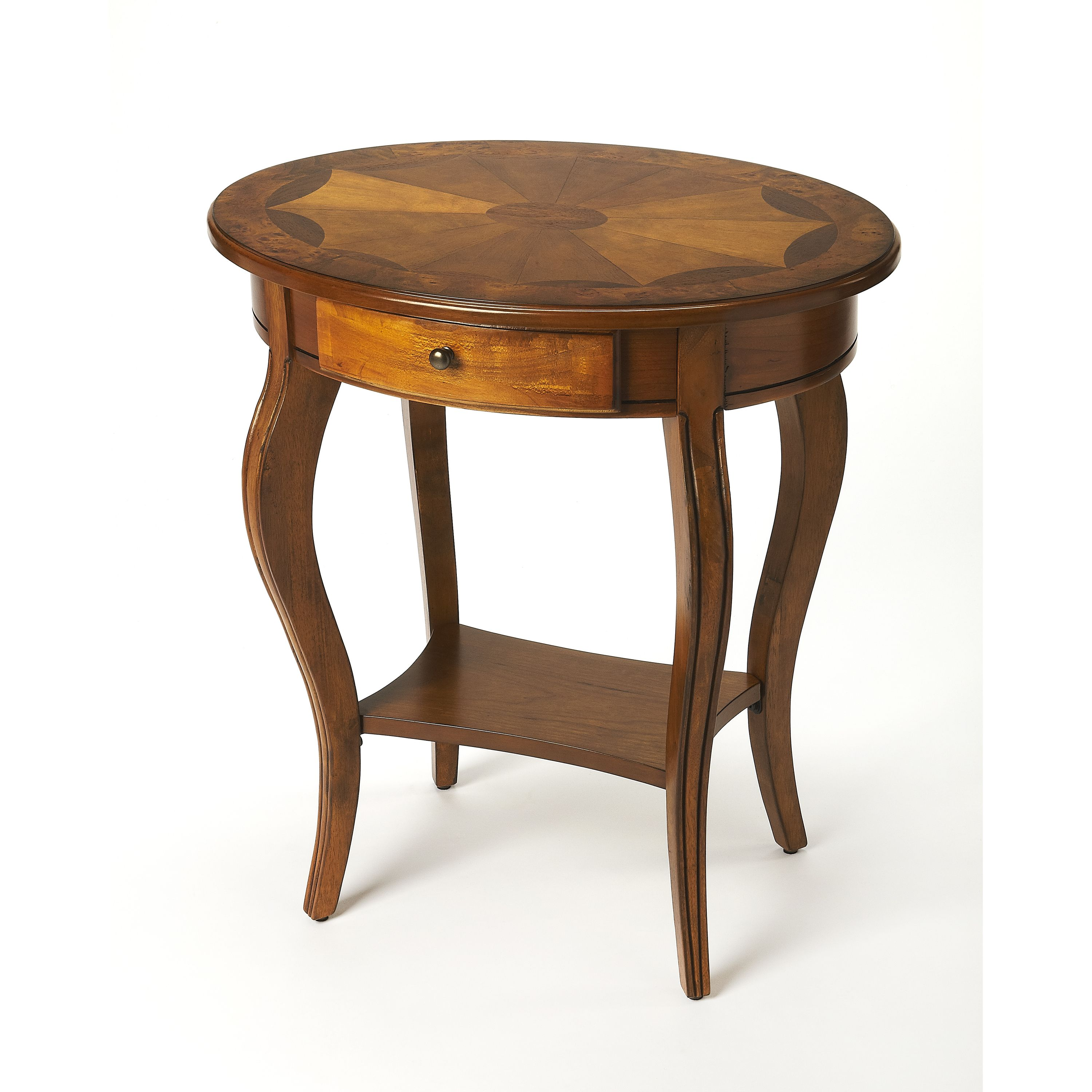 Butler Jeanette Olive Ash Burl Oval Accent Table