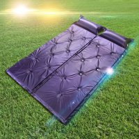 Camping Self Inflating Sleeping Pad with Attached Pillow - Lightweight Air Sleeping Pads Carry Bag,Outdoor Camping Waterproof Picnic Beach Sporting Folding Make Of Polyester