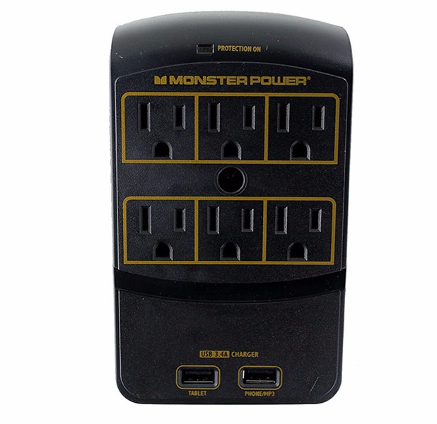 Monster Power Gold Multi-Outlet Power Protection with 6 Outlets and 2 USB Ports (Refurbished)