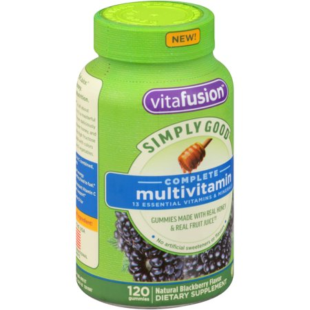 Vitafusion Simply Good Complete multivitamines suppléments alimentaires naturels Blackberry gélifiés, 120 count