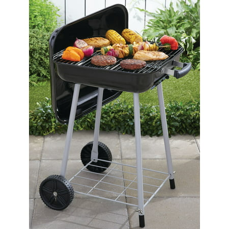 Expert Grill 17.5'' Charcoal Grill with Wheels, Black