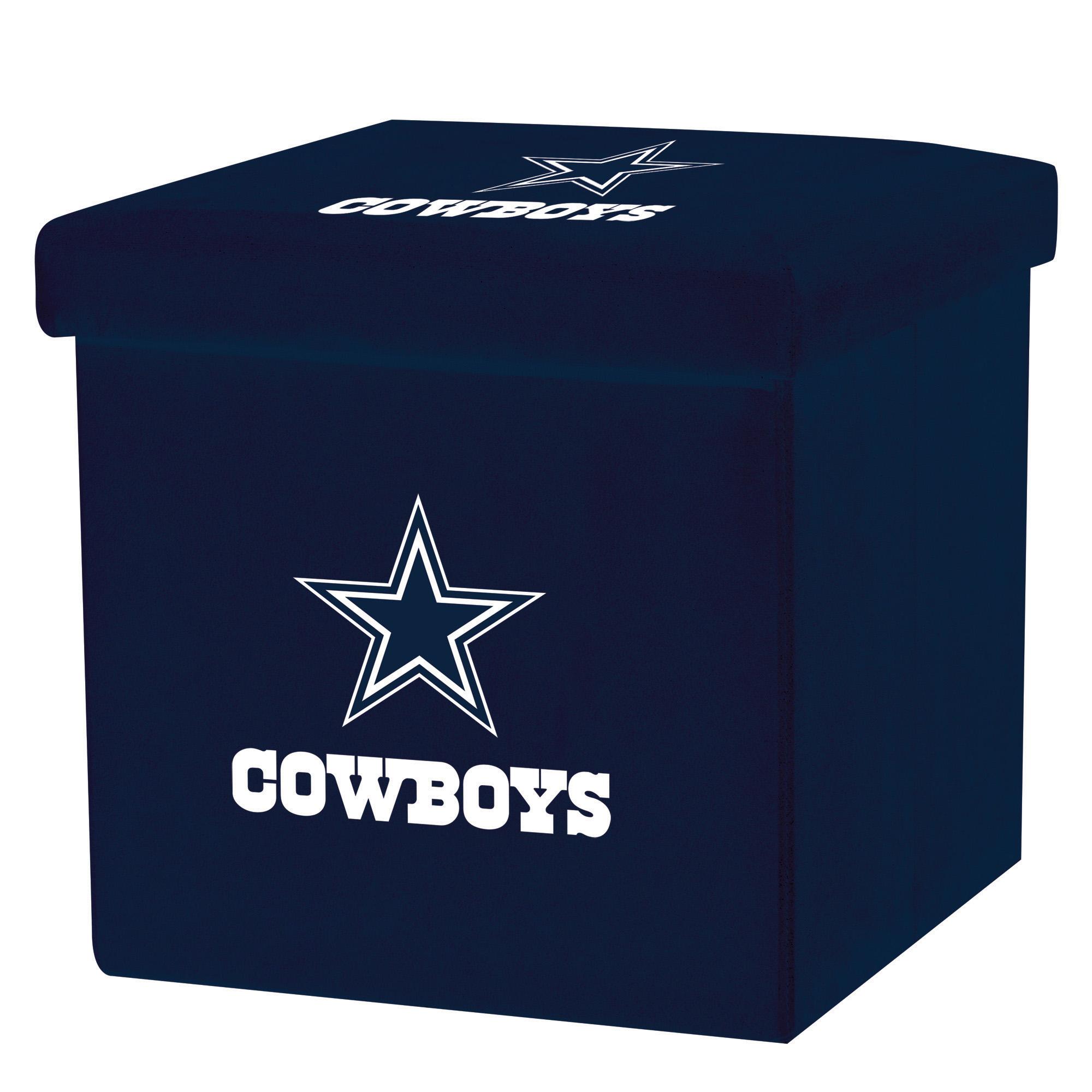 Franklin Sports NFL Dallas Cowboys Storage Ottoman with Detachable Lid