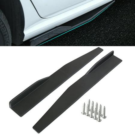 1 Pair Universal Carbon Fiber Look Side Skirt Rocker Splitters Diffuser Winglet Wings
