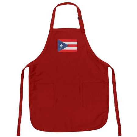 Puerto Rico Flag Apron Grilling Or Kitchen Puerto Rico Flag Design Aprons Famous Broad Bay Quality ()