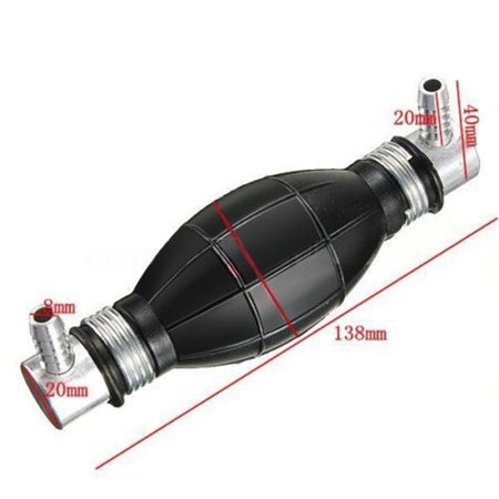 6/8/10/12mm Fuel Primer Blub Hand Pump Petrol Diesel Inline Filter Black  Rubber