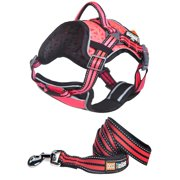 Helios Dog Chest Compression Pet Harness and Leash Combo