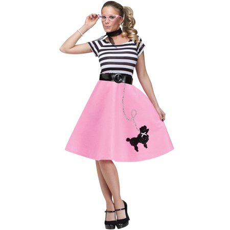 50's Soda Shop Sweetie Adult Costume - 50's Halloween Costumes For Babies