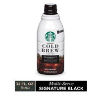 Starbucks Cold Brew Coffee  Signature Black  Multi-Serve Concentrate  1 bottle (32 oz.)
