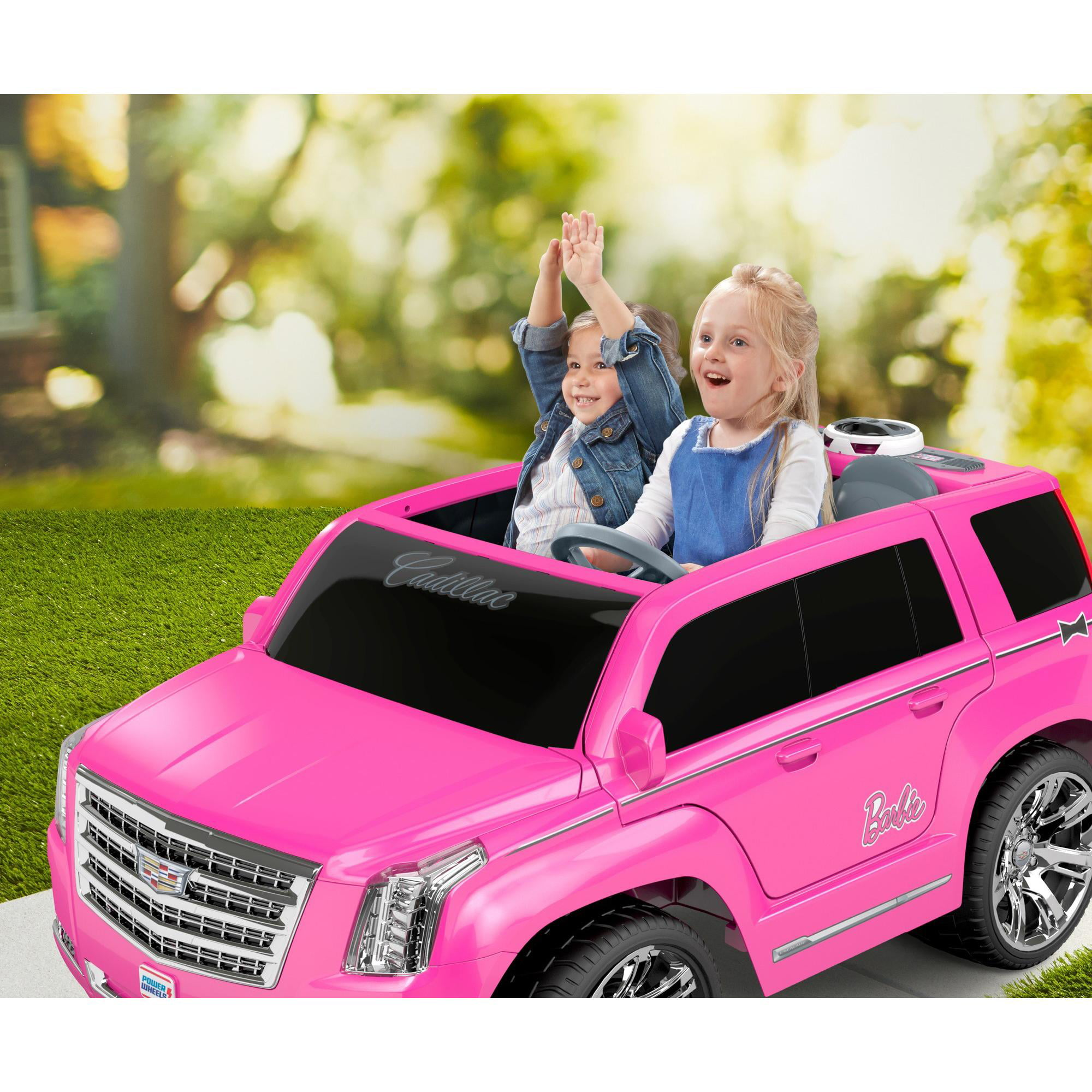 power wheels barbie cadillac escalade ride on vehicle pink walmart com walmart com power wheels barbie cadillac escalade ride on vehicle pink