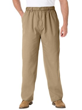 Kingsize Men's Big & Tall Knockarounds Full-elastic Waist Pants In Twill Or Denim Casual Pants