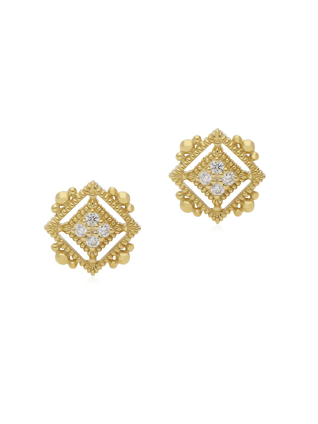 Juliette Pavé Diamond and 14K Gold Stud Earrings