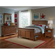My Home Furnishings Neopolitan-Driftwood 1011-311113343 3 By 3 Twin Shutter Panel Bed