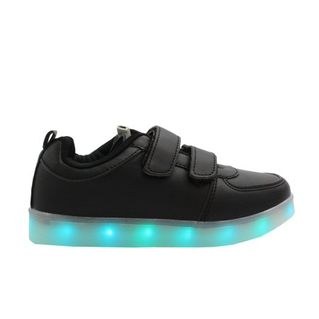 Shoes That Light Up (Galaxy LED Shoes Light Up USB Charging Low Top Strap Kids Sneakers)
