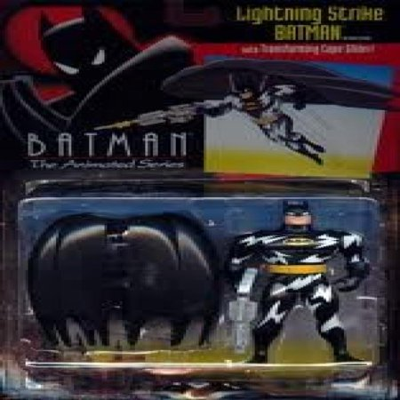 Batman the Animated Series Lightning Strike Batman with Cape Glider
