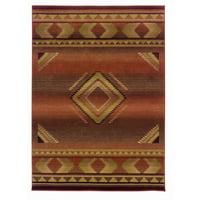 "Oriental Weavers Generations 6'7"" x 9'1"" Machine Woven Rug in Red"