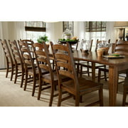 A-America Toluca Ladder Back Dining Side Chair - Rustic Amber - Set of 2