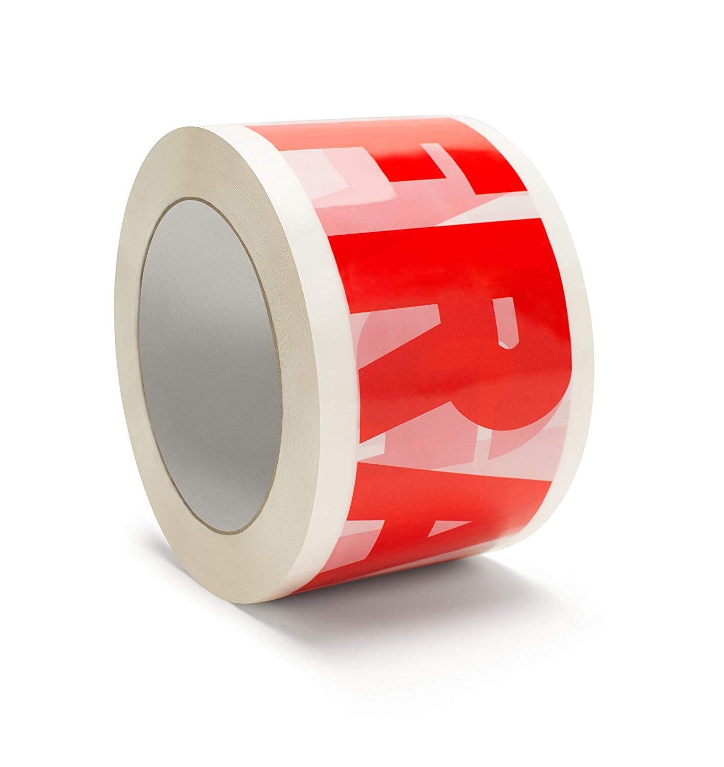 "Fragile Printed Tape, 3"" x 110 Yards Polypropylene White & Red Packing Tapes 2.0 Mil 48 Rolls"