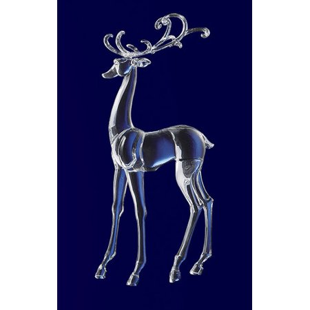 Icy Crystal Decorative Christmas Standing Deer Figure 25.3