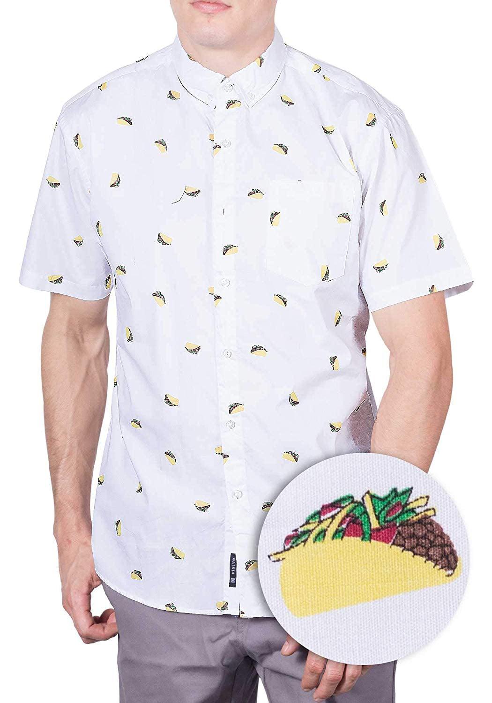 c441a1c4b453 Visive - Mens Taco Hawaiian Shirt | Short Sleeve Button Down Up Casual  Printed Tee Shirts L - Walmart.com