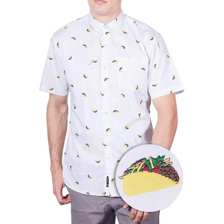 b5c1ef5a Visive - Mens Taco Hawaiian Shirt | Short Sleeve Button Down Up Casual  Printed Tee Shirts L - Walmart.com