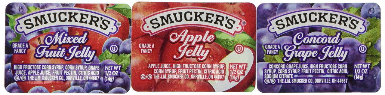 200 PACKS : SmuckersJelly Jam Assortment by