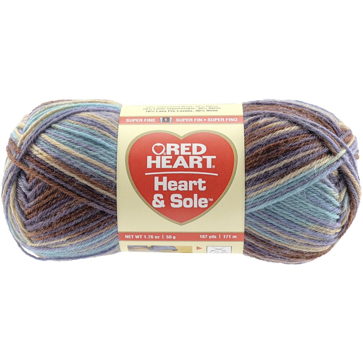 Red Heart Heart & Sole Yarn, Available in Multiple Colors