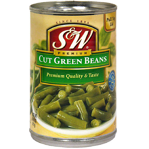 S&W Cut Green Beans, 14.5 oz (Pack of 24)